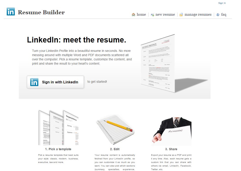 the resume builder