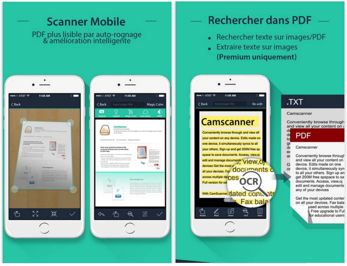 CAMSCANNER POUR IPHONE