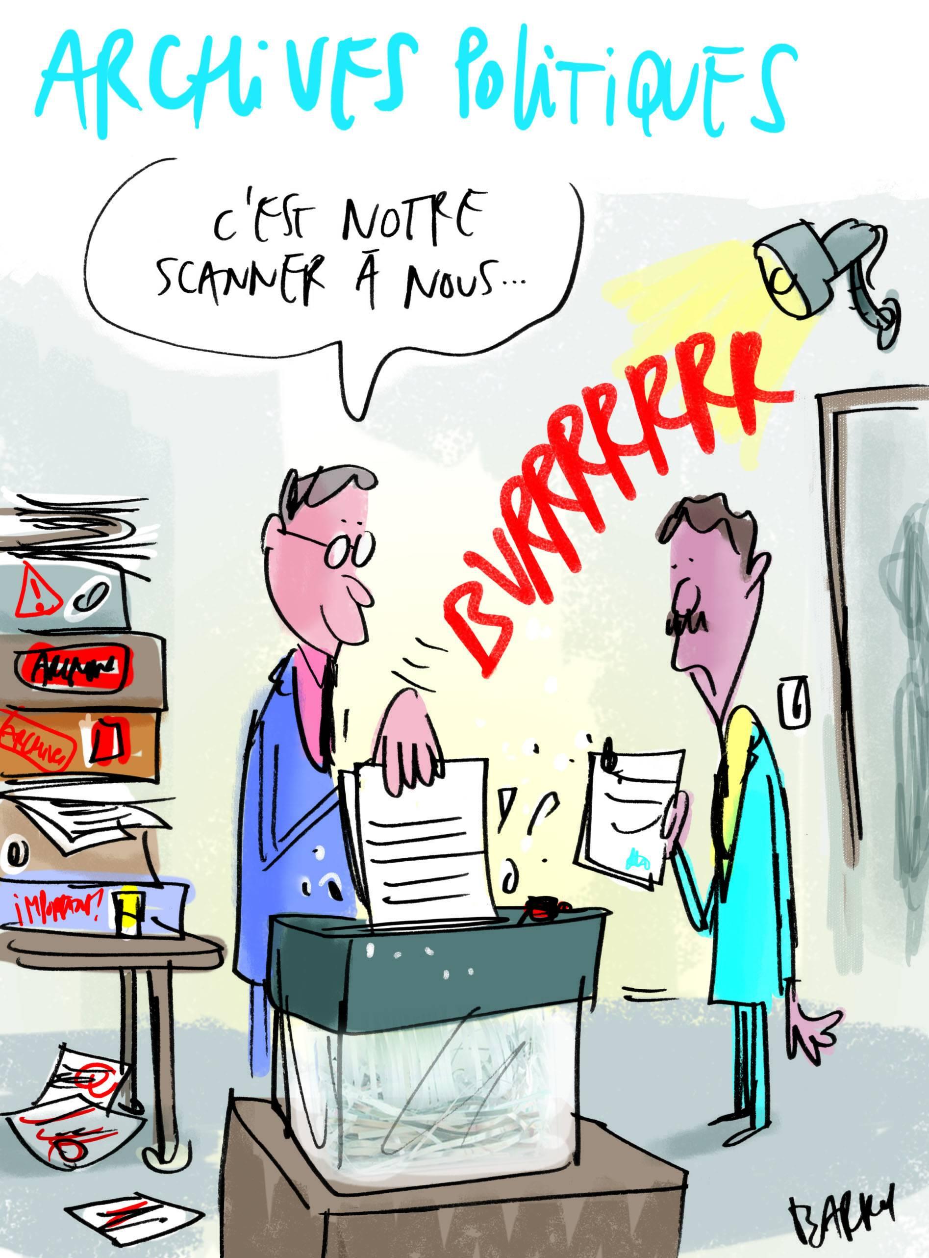 Les archives politiques vues par notre dessinateur Barros