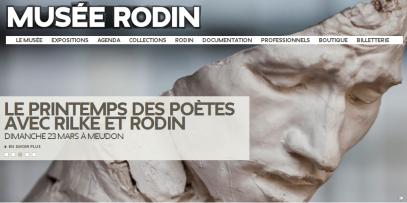 Page d'accueil du site du musée Rodin