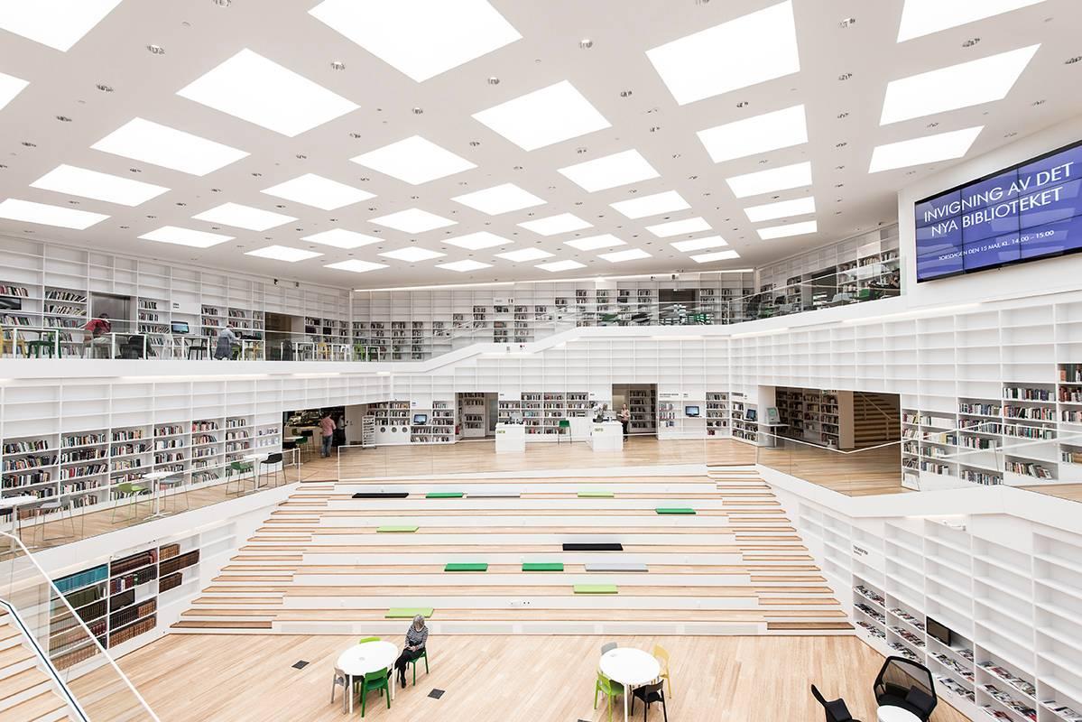 une biblioth que su doise prim e au world architecture. Black Bedroom Furniture Sets. Home Design Ideas