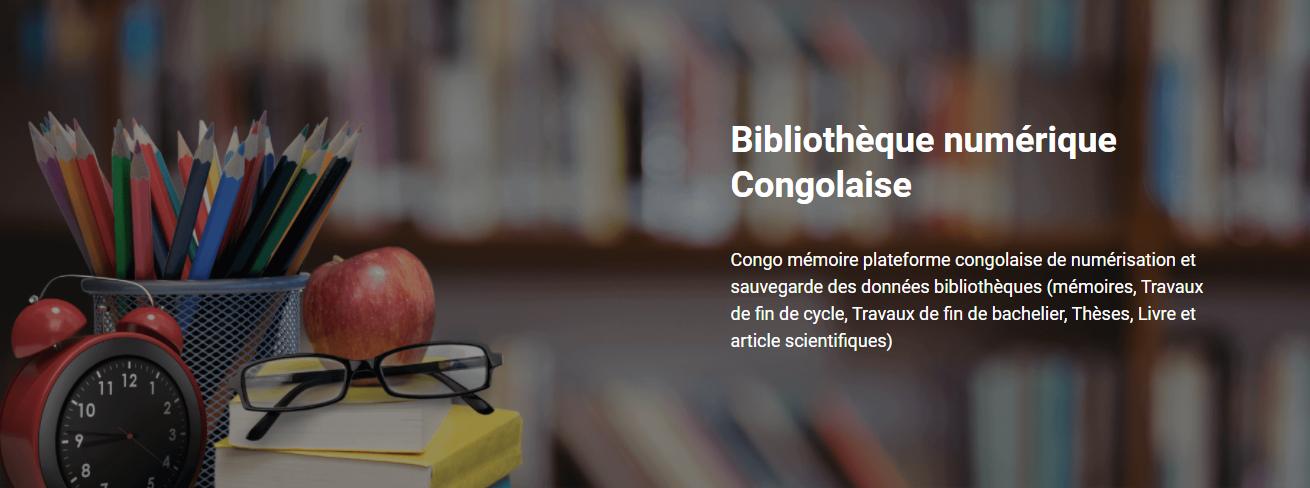 Congo Mémoire plateforme numérique dédiée données bibliothèques