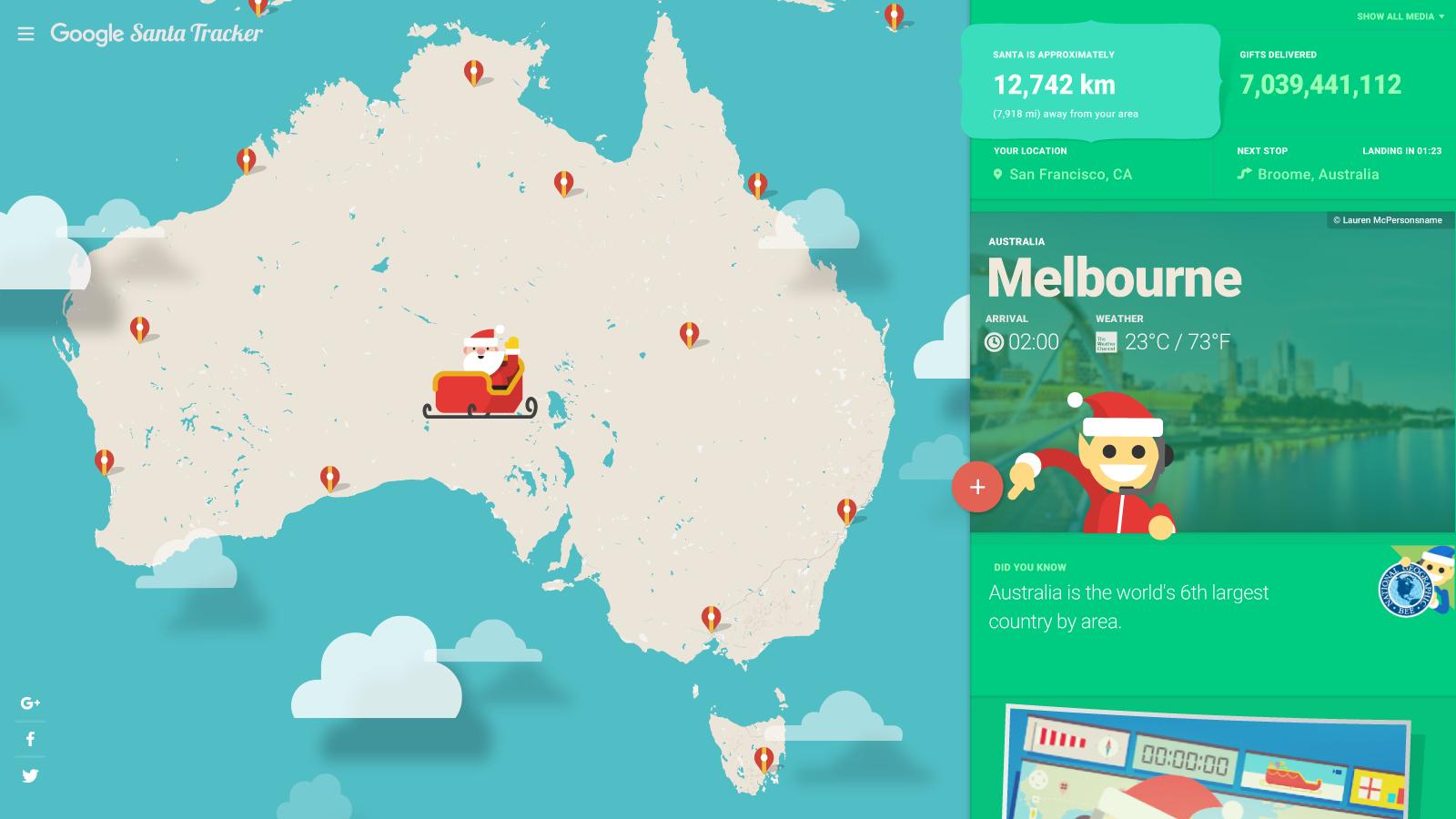 trajet du pere noel Suivez la tournée du Père Noël en direct sur Google Maps grâce au  trajet du pere noel