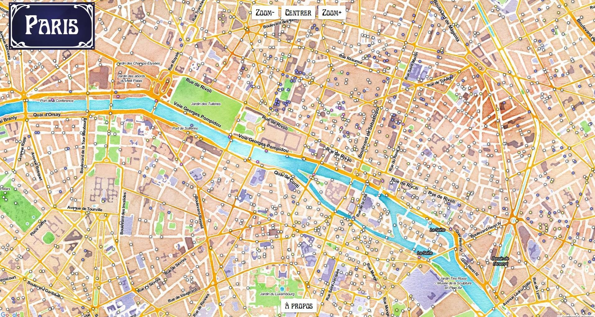 Paris une carte interactive pour conna tre l 39 histoire du for Piscine publique paris