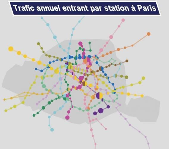 Metro Parisien Carte Interactive De La Frequentation Archimag