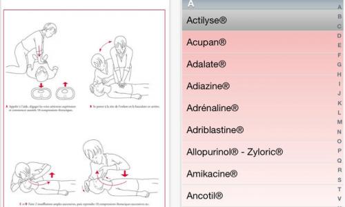 Application mobile pour les urgences pédiatriques.