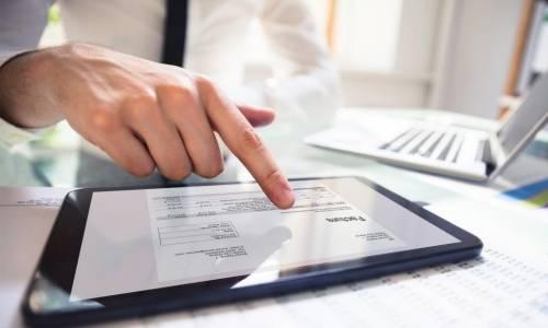 Signature électronique tablette