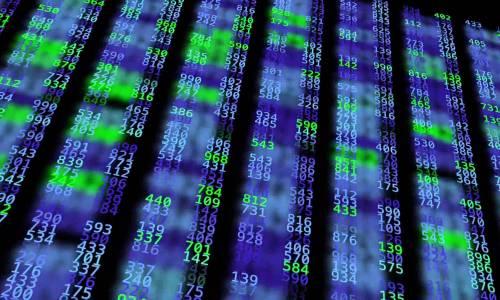 Un flux de données affiché sur un écran informatique