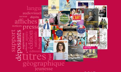 des couvertures d'ouvrages forment une fleur sur fond coloré doc bnf