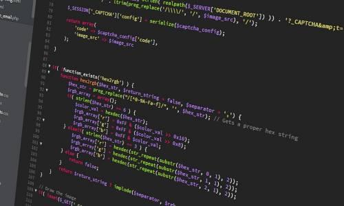 des lignes de codes apparaissent sur un écran d'ordinateur